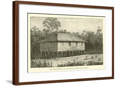 The Mission-House at Sao Paulo, on the Purus River--Framed Giclee Print