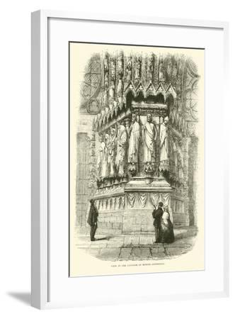 View in the Interior of Rheims Cathedral, September 1870--Framed Giclee Print