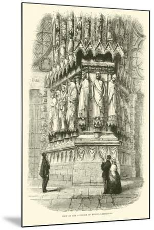 View in the Interior of Rheims Cathedral, September 1870--Mounted Giclee Print