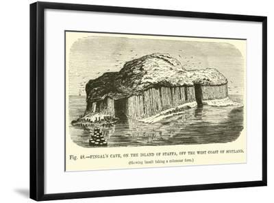 Fingal's Cave, on the Island of Staffa, Off the West Coast of Scotland--Framed Giclee Print