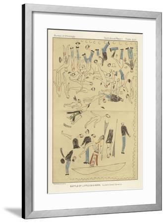 Battle of Little Big Horn - Custer's Dead Cavalry--Framed Giclee Print