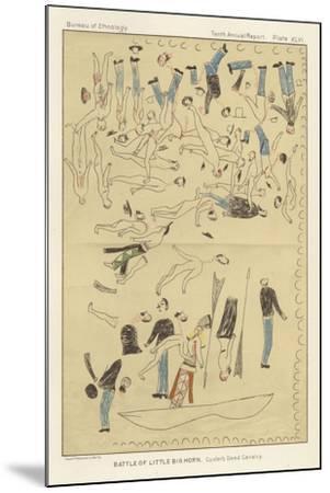 Battle of Little Big Horn - Custer's Dead Cavalry--Mounted Giclee Print