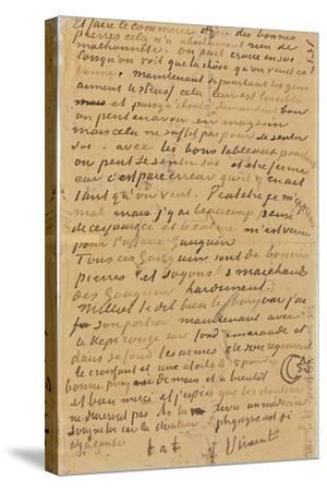Page of a Letter from Vincent to His Brother Theo, Executed in Arles, 1888-Vincent van Gogh-Stretched Canvas Print