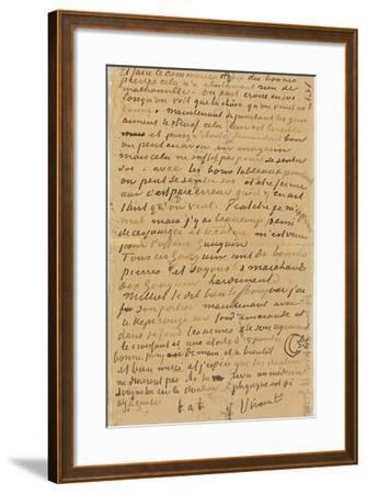 Page of a Letter from Vincent to His Brother Theo, Executed in Arles, 1888-Vincent van Gogh-Framed Giclee Print