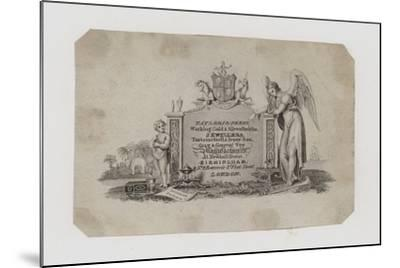 Goldsmiths and Silversmiths, Taylor and Perry, Trade Card--Mounted Giclee Print