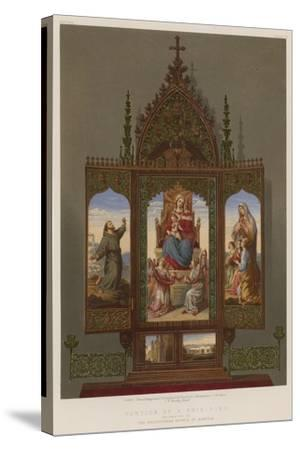 Portion of a Prie-Dieu Belonging to the Archduchess Sophia of Austria--Stretched Canvas Print