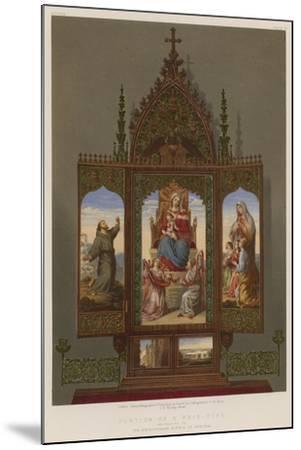 Portion of a Prie-Dieu Belonging to the Archduchess Sophia of Austria--Mounted Giclee Print