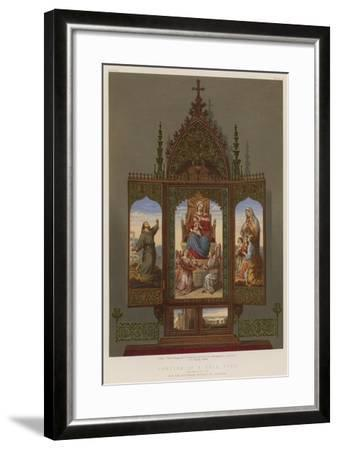 Portion of a Prie-Dieu Belonging to the Archduchess Sophia of Austria--Framed Giclee Print