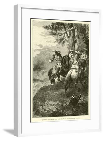 James II Witnesses the Defeat of His Troops at the Boyne--Framed Giclee Print