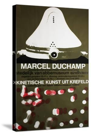 Poster for Marcel Duchamp at the Van Abbemuseum, Eindhoven, 1965--Stretched Canvas Print