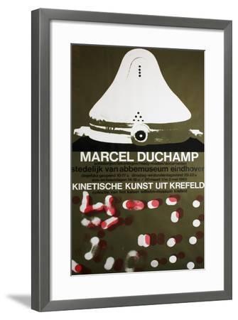 Poster for Marcel Duchamp at the Van Abbemuseum, Eindhoven, 1965--Framed Giclee Print