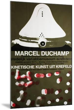 Poster for Marcel Duchamp at the Van Abbemuseum, Eindhoven, 1965--Mounted Giclee Print