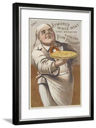 Advertisement for Atmore's Mince Meat and Genuine English Plum Pudding--Framed Giclee Print