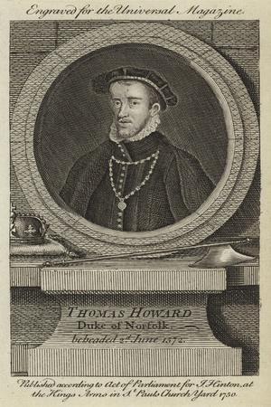 Thomas Howard, Duke of Norfolk, Beheaded 2nd June 1572--Framed Giclee Print