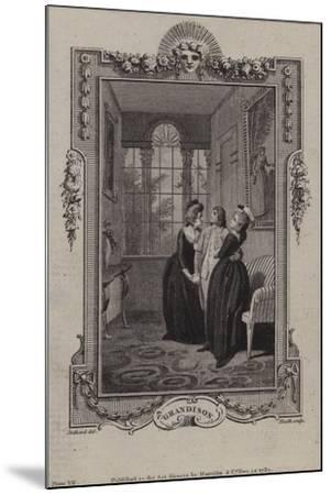 Scene from the History of Sir Charles Grandison--Mounted Giclee Print