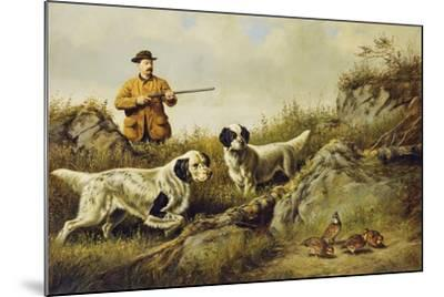 Amos F. Adams Shooting over Gus Bondher and Son, Count Bondher, 1887-Arthur Fitzwilliam Tait-Mounted Giclee Print