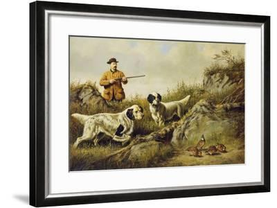 Amos F. Adams Shooting over Gus Bondher and Son, Count Bondher, 1887-Arthur Fitzwilliam Tait-Framed Giclee Print