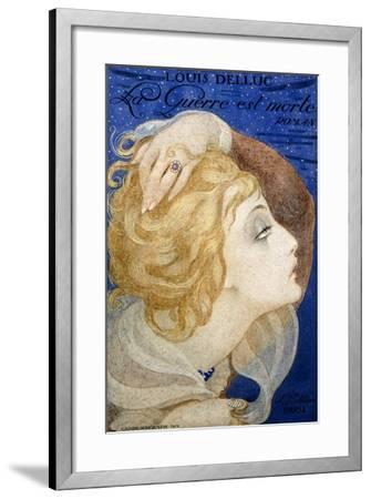 A Book-Jacket Design for 'La Guerre Est Morte', 1919-Gerda Marie Frederike Wegener-Framed Giclee Print