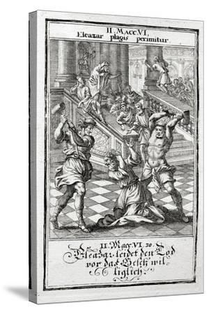 Eleazar Willingly Accepts the Death Penalty, Maccabees 1695-Christoph Weigel-Stretched Canvas Print