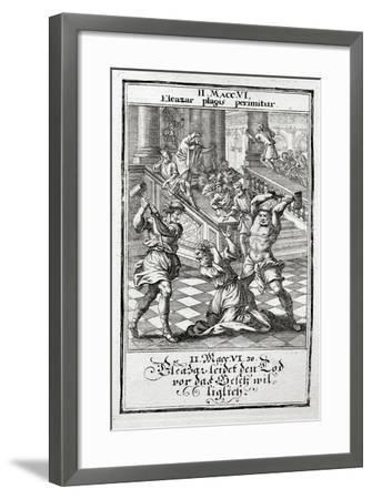 Eleazar Willingly Accepts the Death Penalty, Maccabees 1695-Christoph Weigel-Framed Giclee Print