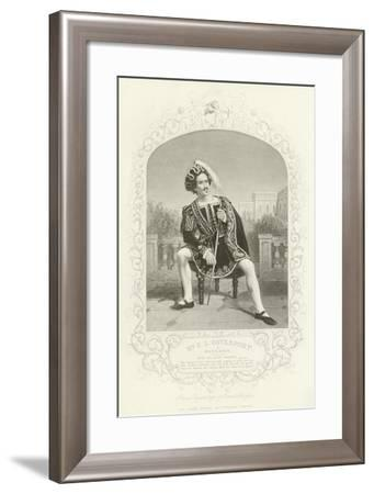 Mr E L Davenport as Benedick, Much Ado About Nothing, Act II, Scene III--Framed Giclee Print