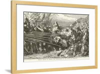 Heroic Death of Arnold Von Winkelried at the Battle of Sempach--Framed Giclee Print