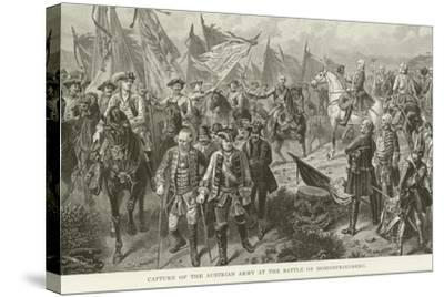 Capture of the Austrian Army at the Battle of Hohenfriedberg--Stretched Canvas Print