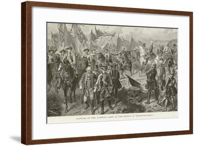 Capture of the Austrian Army at the Battle of Hohenfriedberg--Framed Giclee Print