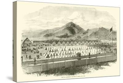 Camp of Confederate Prisoners at Elmira, New York, May 1865--Stretched Canvas Print