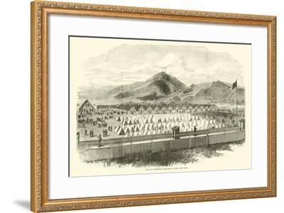 Camp of Confederate Prisoners at Elmira, New York, May 1865--Framed Giclee Print
