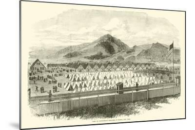 Camp of Confederate Prisoners at Elmira, New York, May 1865--Mounted Giclee Print