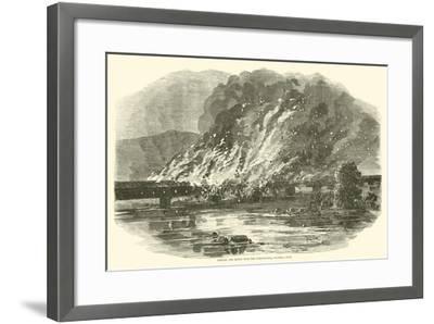 Burning the Bridge over the Susquehanna, Columbia, Penn, June 1863--Framed Giclee Print