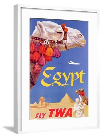 Poster Advertising Trans World Airlines Flights To Egypt