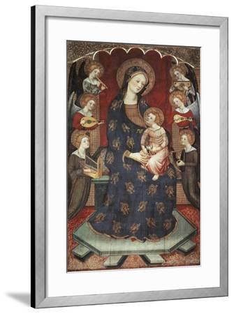 Madonna with Child with Angels Playing Music, 1390-1399-Pedro Serra-Framed Giclee Print