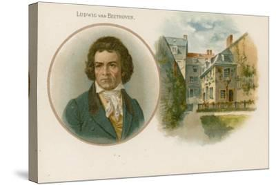 Ludwig Van Beethoven, German Composer and Pianist--Stretched Canvas Print