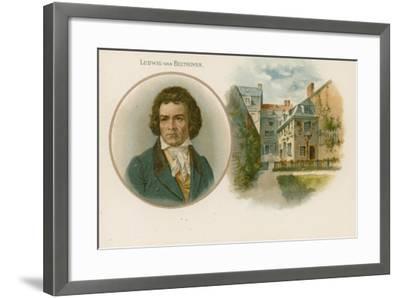 Ludwig Van Beethoven, German Composer and Pianist--Framed Giclee Print