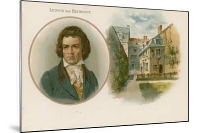 Ludwig Van Beethoven, German Composer and Pianist--Mounted Giclee Print