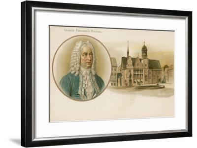 George Frideric Handel, German-Born British Composer--Framed Giclee Print