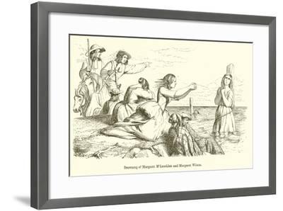 Drowning of Margaret M'Lauchlan and Margaret Wilson--Framed Giclee Print