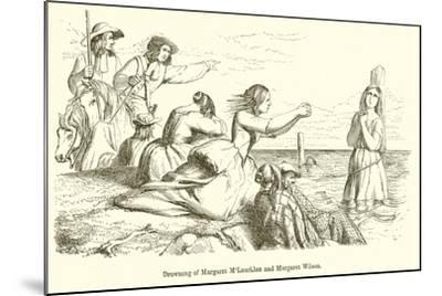 Drowning of Margaret M'Lauchlan and Margaret Wilson--Mounted Giclee Print