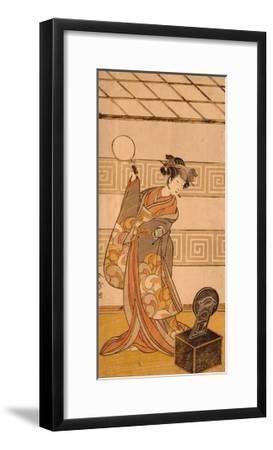 Actor Arashi Sangoro II in Female Part-Katsukawa Shunsho-Framed Giclee Print