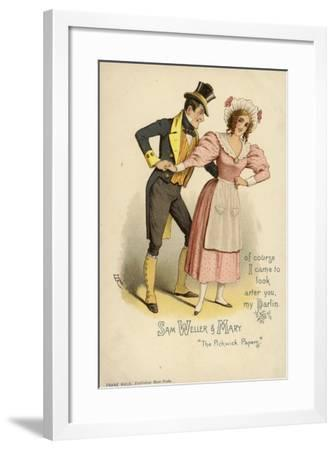 Sam Weller and Mary, from the Pickwick Papers--Framed Giclee Print