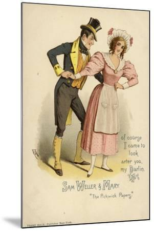 Sam Weller and Mary, from the Pickwick Papers--Mounted Giclee Print