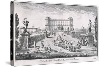 Villa Di Bella Vista, Plate 27, from 'Views , 1757-Giuseppe Zocchi-Stretched Canvas Print