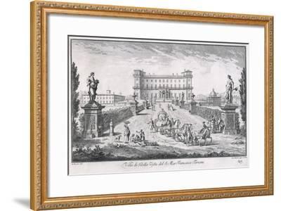 Villa Di Bella Vista, Plate 27, from 'Views , 1757-Giuseppe Zocchi-Framed Giclee Print