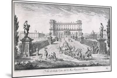 Villa Di Bella Vista, Plate 27, from 'Views , 1757-Giuseppe Zocchi-Mounted Giclee Print
