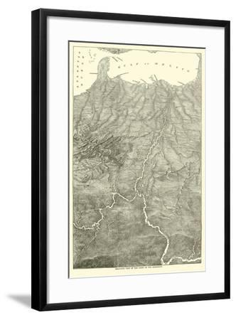 Bird'S-Eye View of the Basin of the Mississippi, 1862--Framed Giclee Print