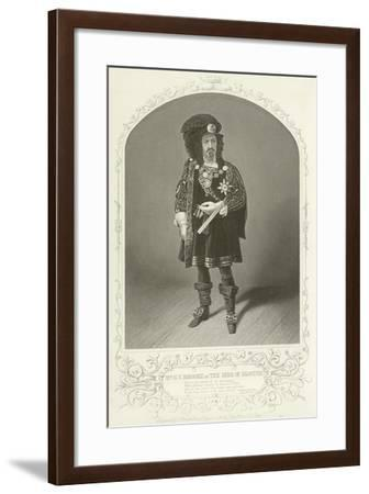Mr G V Brooke as the Duke of Gloster, Richard the Third, Act I, Scene I--Framed Giclee Print