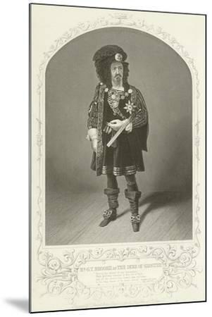 Mr G V Brooke as the Duke of Gloster, Richard the Third, Act I, Scene I--Mounted Giclee Print