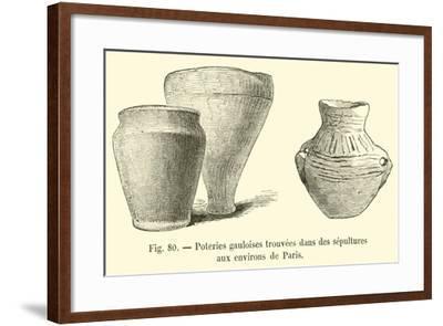Poteries Gauloises Trouvees Dans Des Sepultures Aux Environs De Paris--Framed Giclee Print